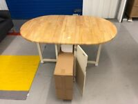 John Lewis Drop Leaf Table with 4 chairs RRP £229 / OUR PRICE £170