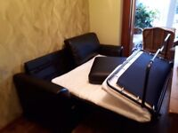 Leather sofa bed, good quality - only used a few times.