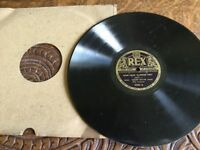 """Vintage vinyl 78 record Gems from """"Blossom Time""""."""