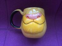 Disney Parks Simba the Lion King Face Ceramic Mug Cup