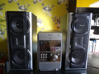 Philips FWD831/12 stereo system with radio, CD, and DVD player