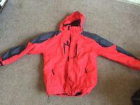 Parallel Xtreme Men's large red waterproof jacket.