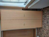 Modern oak wardrobe - like new!