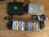 2x original Xbox consoles and 30 games