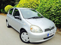 **AC// 5DOORS** TOYOTA YARIS 1.3 GLS + FULL SERVICE HISTORY + MOT JANUARY17 + LOOKS &DRIVES LIKE NEW