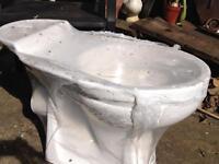 Toilet bowl, no cystern
