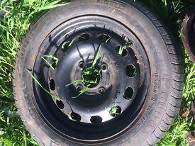car tyre on ford rim tread good 185 80 14