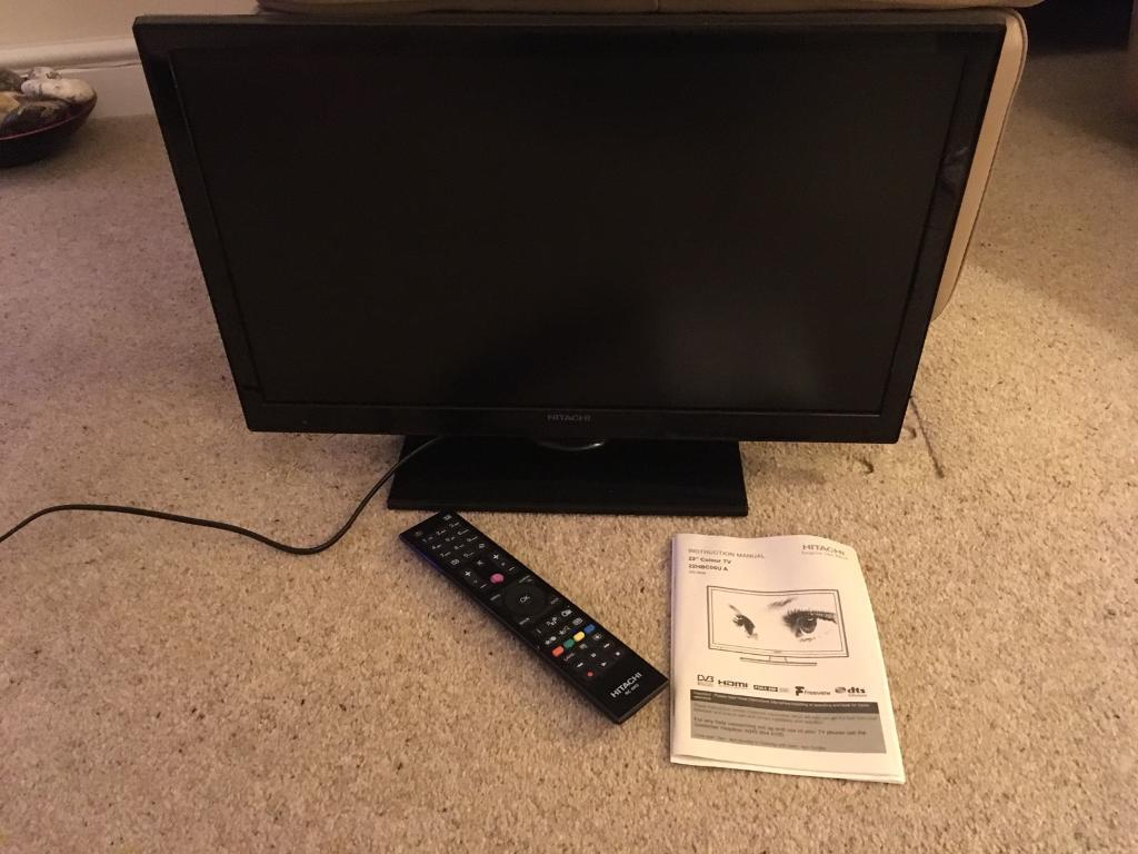 """Hitachi 22"""" HD Freeview TV"""