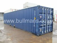 40ft new build / single trip steel container, storage container, site container