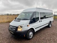 14 Ford transit 17 seat minibus extremely low miles NO VAT truly outstanding, also camper or van