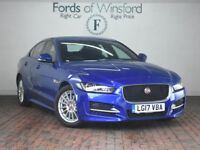 JAGUAR XE 2.0d R-sport [Sat Nav, 2-Tone Leather] 4dr (blue) 2017
