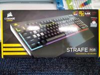 Corsair Strafe RGB Mechanical keyboard (Backlight keys, Cherry MX keys, with receipt, nearly new!)