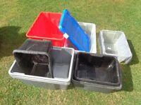 PLASTIC STORAGE CRATES PLASTIC BOXES JOB LOT