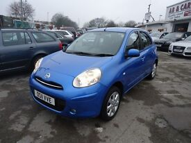 2011 NISSAN MICRA 1.2 PETROL FULL MAIN DEALER SERVICE ONLY 44K MILEAGE WITH 3 M NATIONWIDE WARRANTY