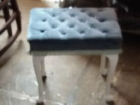 Blue and white stool