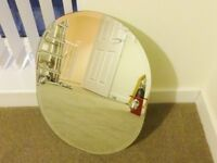 BATHROOM MIRROR : OVAL