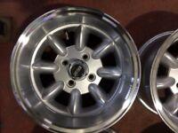 Classic Mini Minilite style Wheels 7/13