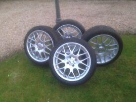 """17"""" Aloys & tyres"""