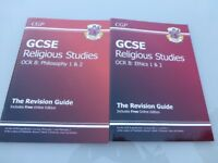 GCSE Religious Studies OCR B Ethics 1 & 2 and Philosophy 1 & 2 revision books Excellent condition