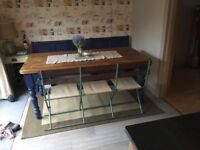 Vintage band stand bench