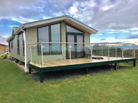 SEASIDE LODGE FOR SALE 3BED WITH GLASS DECKING HAFAN Y MOR NORTH WALES PWLLHELI INCLUDES 2018 FEES