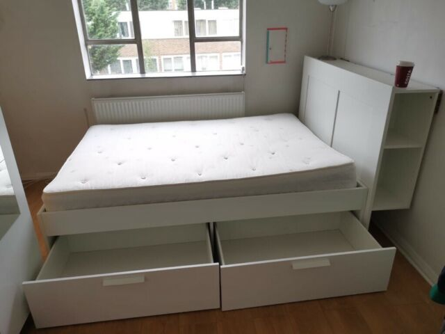 BRIMNES Ikea bed and John Lewis mattress | in Islington, London | Gumtree