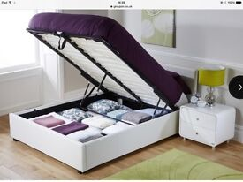 Brand New White Double Ottoman Storage Bed