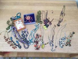 Selection costume jewellery