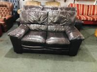 Quality Leather 3 and 2 sofas in brown