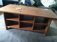 Large Pine Coffee table with storage