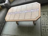 Coffee table & glass cabinet