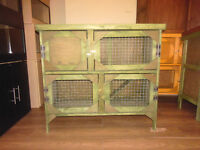 3ft 2 tier rabbit guinea pig hutch in forest green