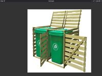 Double wheelie bin shed