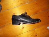 Mens Genuine black leather shoes