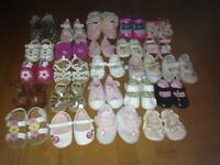 25 pairs of shoes sizes 1-5 and 11 hats