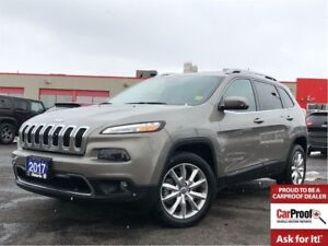 2017 Jeep Cherokee LIMITED**LEATHER**NAV**BLUETOOTH**BACK UP CAM