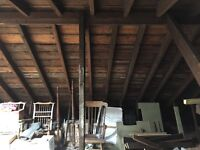Loft Boarding an Edinburgh tenement attic
