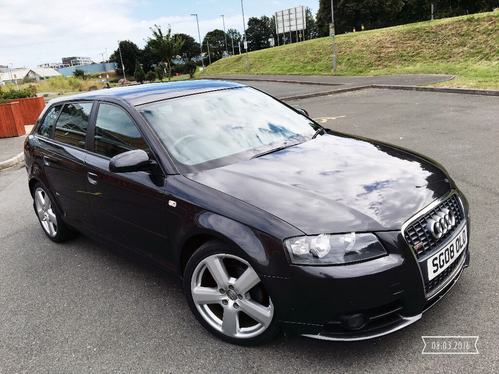 2008 audi a3 s line tdi s back grey f s h full s line. Black Bedroom Furniture Sets. Home Design Ideas