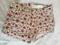 H&M floral shorts summer vintage