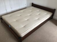 Double bed and mattress for sale (Warren Evans Low Deco style)