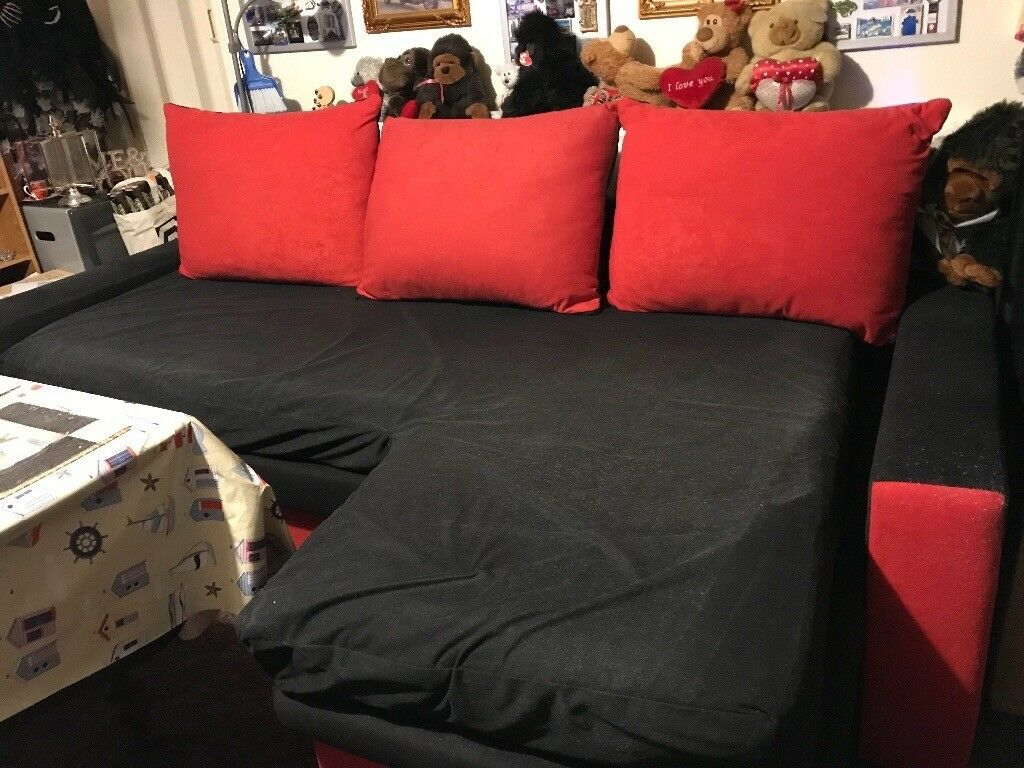 3 seater corner settee converts to bed