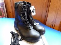 Task Force Black Leather / Fabric High Leg Safety Boots - Size 12