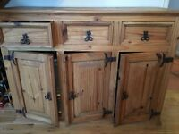 Antique Mexican Pine Sideboard
