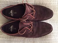Mens Brown Suede Oxford style shoes size 10