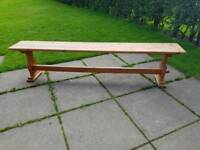 6ft6 Old Pine Bench