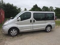 2008 RENAULT TRAFFIC 2.0 DCI SL27 9 SEATER MINIBUS, ** NO VAT ** NEW MOT! JUST SERVICED! FAULTLESS