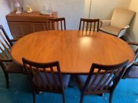 Dining Table and Chairs (G Plan)