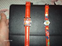 HELLO KITTY & SIMPSONS WATCHES