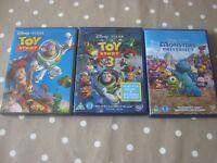 Disney Pixar: Toy Story & Toy Story 3; Monsters University
