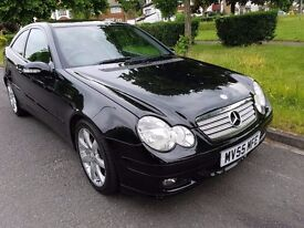 Mercedes-Benz C Class 1.8 C180 Kompressor SE 2dr FULL TWO TONE LEATHER SEATS 2005 (55 reg), Coupe